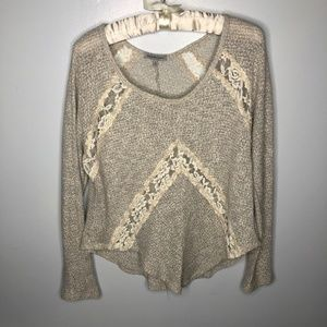 Charlotte Russe Lace Insert Blouse